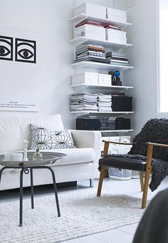 elfa shelving...elfa is an amazingly versatile product, get it @ the container store!