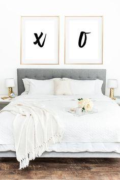 XOXO Wall Decor XOXO Wall Art Girly Wall Decor Bedroom Wall | Etsy