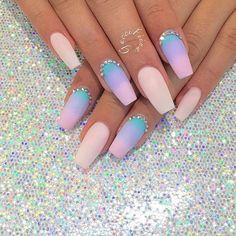 Matowe ombre na paznokciach - wiosenny HIT w manicure 2017. Wypróbujcie te wzory!