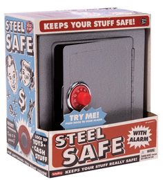 Steel Safe with Alarm - maybe a good present for the boys this year?