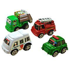 6ピース/バッグプルバック車のおもちゃ男の子用レーシングカー赤ちゃんミニ車漫画バスおもちゃ用キッズ子供ランダムにを送った