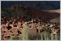 Abyaneh (Persian: ابیانه) is a famous historic Iranian village near the city of Natanz in Isfahan Province. Characterized by a peculiar reddish hue, the village is one of the oldest in Iran, attracting numerous native and foreign tourists year-round, especially during traditional feasts and ceremonies.