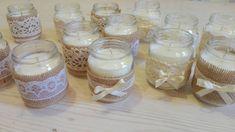 CANDELA DI SOIA - soy candle- bomboniera -  candele shabby chic - shabby - candela di soia biologica - segnaposto - candela bio di LECREAZIONIDIMARICA su Etsy