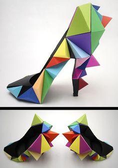 Freak-Shoe Friday: Origami Rainbow Shoes