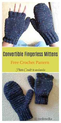 2 in 1 fingerless gloves mittens free crochet pattern cute cosy free crochet mittens pattern Free Form Crochet, Crochet Mittens Free Pattern, Crochet Patterns, Free Knitting, Crochet Ideas, Crochet Stitches, Crochet Accessories Free Pattern, Fingerless Gloves Crochet Pattern, Crochet Potholders