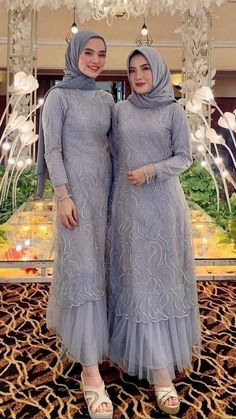 Dress Brokat Muslim, Dress Brokat Modern, Kebaya Modern Dress, Dress Muslim Modern, Simple Long Dress, Muslimah Wedding Dress, Simple Bridesmaid Dresses, Muslim Women Fashion, Batik Fashion