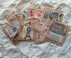 aged tags - great for scrapbooking, gifts, journaling etc