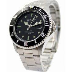 SSW510C Black Dial Matt Silver Band Round Water Resist Men Stainless Steel Watch
