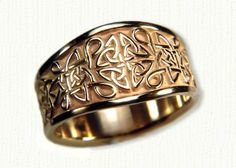Celtic Love Knot Wedding Rings In White Gold Platinum Yellow Two Tone