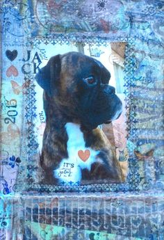 """MIxed Media. Collage. Pets. """"Jack"""""""