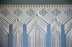 Macrame grande colgando de la pared cuerda de algodón