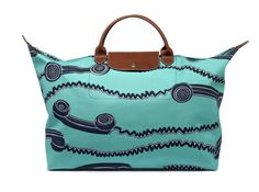 """Le Pliage """"Telephone"""" - Collaboration with Jeremy Scott. Longchamp Collection SS 2007"""