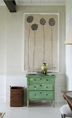 could DIY with paint on burlap then framed