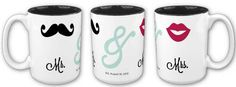 Custom #wedding mug....just add your date and change the colors if you wish! Heritage Makers template 105836