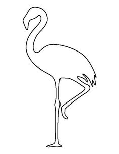 Flamingo pattern. Use the printable outline for crafts, creating stencils, scrapbooking, and more. Free PDF template to download and print at http://patternuniverse.com/download/flamingo-pattern/