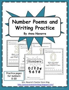 This Number packet is a resource for helping students learn numbers 0-30.
