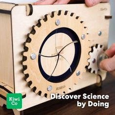 Explore how science technology and engineering shape our world. Build an articulated desk lamp a card shuffling machine a mechanical lock box and more! Mechanical Projects, Mechanical Engineering Design, Mechanical Design, Stem Projects, Wood Projects, Woodworking Projects, Stem For Kids, Kits For Kids, Electrical Projects