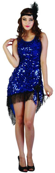 Disfraz de charlestón sexy con flecos para mujer. Disponible en www.vegaoo.es