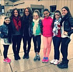 Maddie Ziegler, Mackenzie Ziegler, Jennine Wedge, Kendall Vertes, Rachel Thoma, Gianna Martello and Nia Frazier Australia Tour