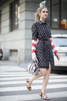 Pin for Later: Ciao, Bella! Die besten Street Style Looks aus Mailand Street Style Milan Fashion Week Februar 2016 Chiara Ferragni in Prada