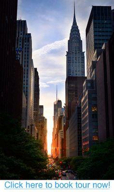 Manhattanhenge Sunset New York City, NY #nyc #tours #bus_tours