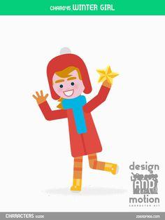 CHAR045_Winter Girl. Part of D&M Character Kit.