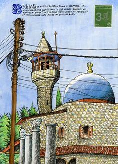 Tommy Kane draws Lebanon