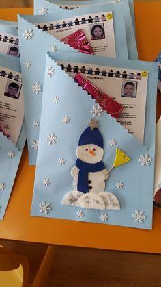 Gelişim dosyaları Book Christmas Tree, Felt Christmas, Christmas Cards, Diy And Crafts, Crafts For Kids, Arts And Crafts, Paper Crafts, Diy Paper, Preschool Graduation