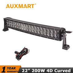 """86.73$  Buy here - http://aliufi.worldwells.pw/go.php?t=32665555107 - """"Auxmart CREE Chips 22"""""""" 200W Curved LED Light Bar Offroad Light Bar Combo Beam for Pickup Truck SUV ATV Wagon 4WD 4X4 RZR Light"""" 86.73$"""