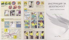 Safety Card BulAir Boeing B737-300 (1)