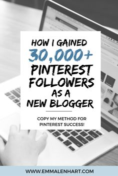 Are you ready to increase your blog traffic through Pinterest? Gain new followers? Find out how Emma Lenhart got 30,000 Pinterest followers to her account as a new blogger. Get easy to implement tips and tricks for gaining new followers and getting repins to your Pinterest profile and account.
