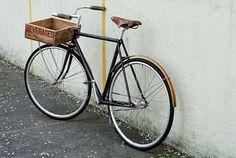wooden crate bike basket