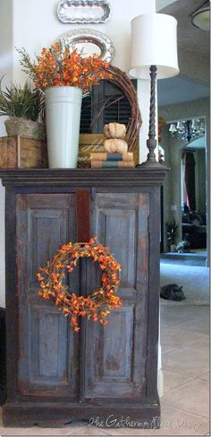 Fall wreath and branches...