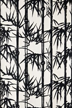 Farrow and Ball Bamboo wallpaper - for one wall in the library room? Feels very Brighton Pavilion