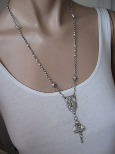 Eternally ... antique repurposed rosary by OhMyGypsySoul, $52.00