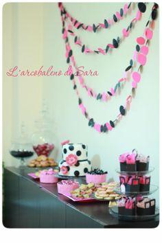 Festa di compleanno in rosa e nero