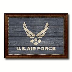 us air force flag custom framed office home wall decor gift vintage cottage art force office decoration