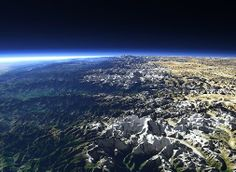 The Himalayas from space.