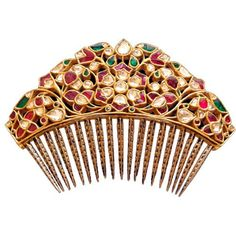 VOGUE India Indian weddings are known for being an extravagant affair; why should your accessories be any less? Sunita Shekhawat's hair comb has just the grandiose element the occasion calls for.