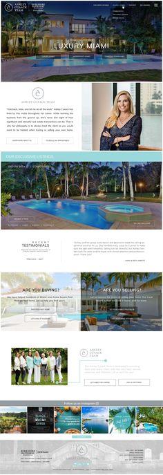 Custom Real Estate Web Design Palmetto Bay, South Miami, Coconut Grove, Coral Gables, Web Design Inspiration, Custom Design, Real Estate, Luxury, Real Estates