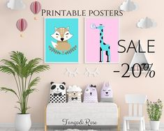If you'd like to have 20% off click the link in the photo, or use code: pinterest20 on Tango And Rose store on Etsy. Do Your Best, Sale Poster, Have Some Fun, Nursery Room, Own Home, Tango, Bathroom Ideas, Modern Design, Kids Room