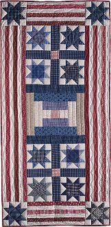 "Stars and Stripes Forever Pieced Tablerunner Pattern by Timeless Traditions at KayeWood.com. Accent your home with the heartwarming, traditional patriotic colors of summer. This scrappy pieced runner is a wonderful accessory for your dining table. Finished size - 25"" x 52""  http://www.kayewood.com/Stars-and-Stripes-Forever-Pieced-Tablerunner-Pattern-by-Timeless-TT-STST.htm $10.00"