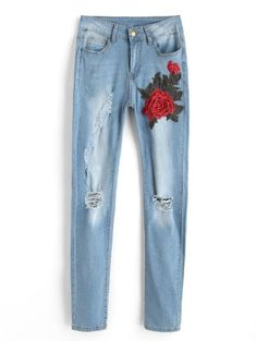 GET $50 NOW | Join Zaful: Get YOUR $50 NOW!https://m.zaful.com/floral-patched-ripped-jeans-p_502861.html?seid=8951745zf502861
