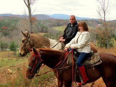 Take a trail ride on horseback through the Blue Ridge mountains