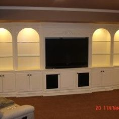 Nice built ins for living room