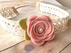 vintage baby headband - flower garland - baby, toddler headband - vintage headband - photo prop