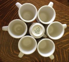 Syracuse China 7 white restaurantware cups by EvelynsCornerCabinet, $35.00