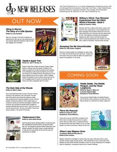 Check out all the new releases from Jan-Carol Publishing! Don't forget, books make great holiday gifts. New Books, Holiday Gifts, Make It Simple, The Voice, Author, Magazine, Words, Don't Forget, Check