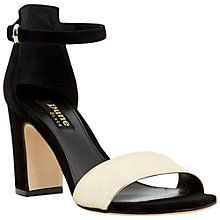 Buy Dune Black May Suede Block Heeled Sandals, Black Online at johnlewis.com