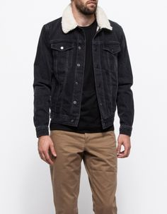 1a31945d7928dd Need Supply Co. Topman Black Denim Western Jacket